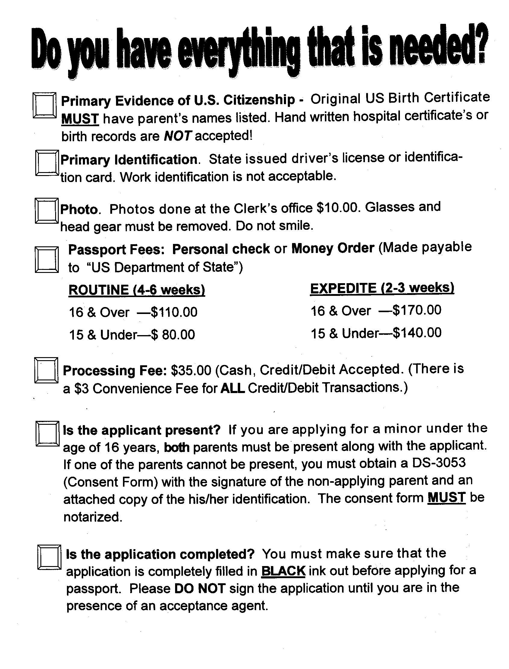 Passports – Cumberland County Clerk\'s Office