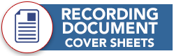 RECORDING DOCUMENT COVER SHEETS