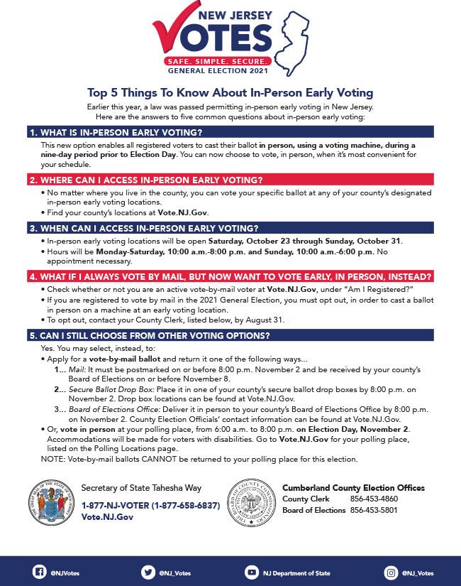 NJ Elections Flyer